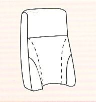 Extra komvormige rug